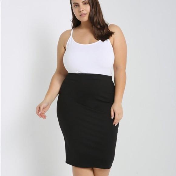 Black Pencil Skirt Plus Size Boutique